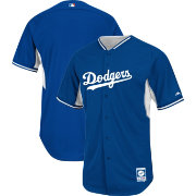 Majestic Men's Authentic Los Angeles Dodgers Royal Cool Base Batting Practice Jersey