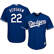 Majestic Men's Replica Los Angeles Dodgers Clayton Kershaw #22 Cool Base Alternate Royal Jersey