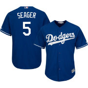 Majestic Men's Replica Los Angeles Dodgers Corey Seager #5 Cool Base Alternate Royal Jersey