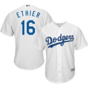 Majestic Men's Replica Los Angeles Dodgers Andre Ethier #16 Cool Base Home White Jersey