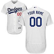 Majestic Men's Custom Authentic Los Angeles Dodgers Flex Base Home White On-Field Jersey