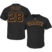 Majestic Triple Peak Men's San Francisco Giants Buster Posey Black T-Shirt