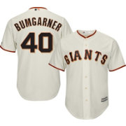 Majestic Men's Replica San Francisco Giants Madison Bumgarner #40 Cool Base Home Ivory Jersey