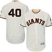 Majestic Men's Authentic San Francisco Giants Madison Bumgarner #40 Home Ivory Flex Base On-Field Jersey