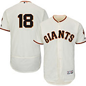 Majestic Men's Authentic San Francisco Giants Matt Cain #18 Home Ivory Flex Base On-Field Jersey
