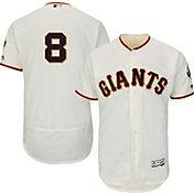 Majestic Men's Authentic San Francisco Giants Hunter Pence #8 Home Ivory Flex Base On-Field Jersey