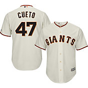Majestic Men's Replica San Francisco Giants Johnny Cueto #47 Cool Base Home Ivory Jersey