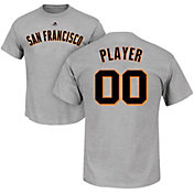 Majestic Men's Full Roster San Francisco Giants Grey T-Shirt
