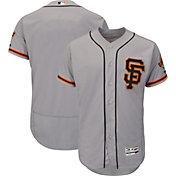 Majestic Men's Authentic San Francisco Giants Alternate Road Grey Flex Base On-Field Jersey
