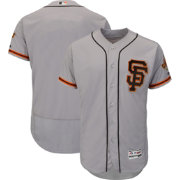 Majestic Men's Authentic San Francisco Giants Alternate Road Grey Flex Base On-Field Jersey