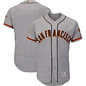 Majestic Men's Authentic San Francisco Giants Road Grey Flex Base On-Field Jersey