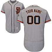 Majestic Men's Custom Authentic San Francisco Giants Flex Base Alternate Road Grey On-Field Jersey