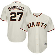 Majestic Men's Replica San Francisco Giants Juan Marichal #27 Cool Base Home Ivory Jersey