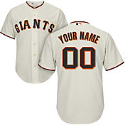 Majestic Men's Custom Cool Base Replica San Francisco Giants Home Ivory Jersey