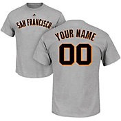 Majestic Men's Custom San Francisco Giants Grey T-Shirt