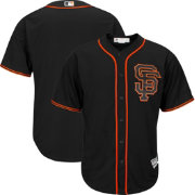 Majestic Men's Replica San Francisco Giants Cool Base Alternate Black Jersey