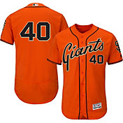 Majestic Men's Authentic San Francisco Giants Madison Bumgarner #40 Alternate Orange Flex Base On-Field Jersey