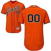 Majestic Men's Full Roster Authentic San Francisco Giants Flex Base Alternate Orange On-Field Jersey