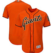 Majestic Men's Authentic San Francisco Giants Alternate Orange Flex Base On-Field Jersey