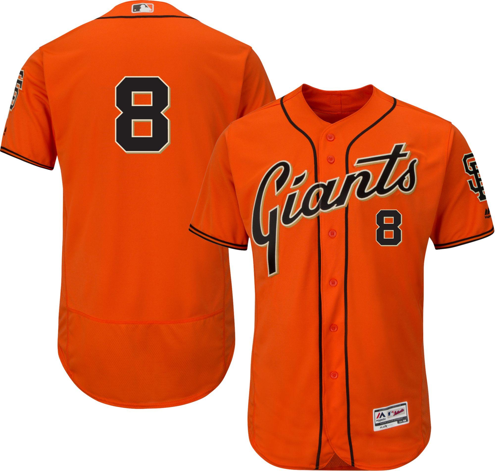 Men's San Francisco Giants #8 Hunter Pence Orange 2016 Flexbase Majestic Baseball Jersey