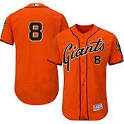 Majestic Men's Authentic San Francisco Giants Hunter Pence #8 Alternate Orange Flex Base On-Field Jersey