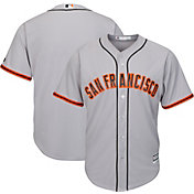 Majestic Men's Replica San Francisco Giants Cool Base Road Grey Jersey