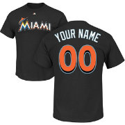 Majestic Men's Full Roster Miami Marlins Black T-Shirt