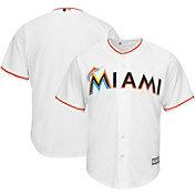 Majestic Men's Replica Miami Marlins Cool Base Home White Jersey