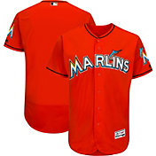 Majestic Men's Authentic Miami Marlins Alternate Orange Flex Base On-Field Jersey