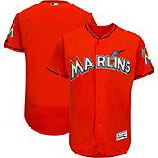 Majestic Men's Authentic Miami Marlins Alternate Orange Flex Base On-Field Jersey
