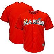Majestic Men's Replica Miami Marlins Cool Base Alternate Orange Jersey