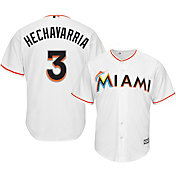 Majestic Men's Replica Miami Marlins Adeiny Hechavarria #3 Cool Base Home White Jersey