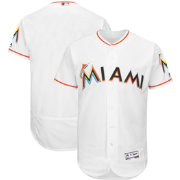 Majestic Men's Authentic Miami Marlins Home White Flex Base On-Field Jersey