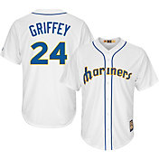 Majestic Men's Replica Seattle Mariners Ken Griffey Jr. Cool Base White Cooperstown Jersey