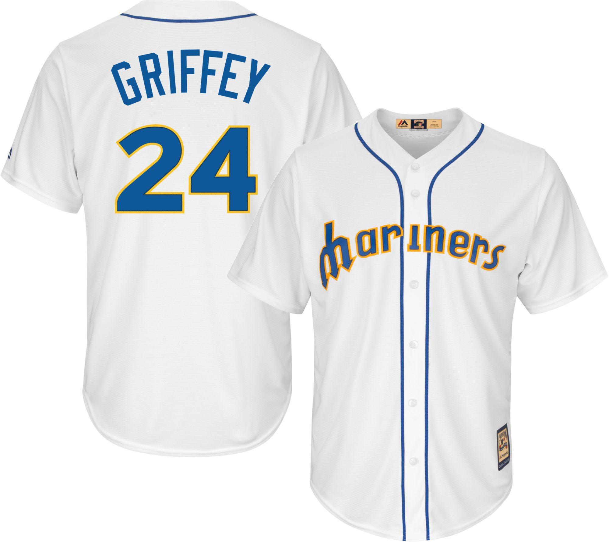 e8f57251c ... Majestic Mens Replica Seattle Mariners Ken Griffey Jr. Cool ...