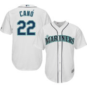Majestic Men's Replica Seattle Mariners Robinson Cano #22 Cool Base Home White Jersey