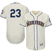 Majestic Men's Authentic Seattle Mariners Nelson Cruz #23 Alternate Ivory Flex Base On-Field Jersey