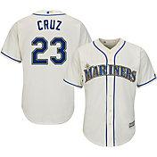 Majestic Men's Replica Seattle Mariners Nelson Cruz #23 Cool Base Home White Jersey