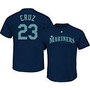 Majestic Men's Seattle Mariners Nelson Cruz #23 Navy T-Shirt