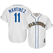Majestic Men's Replica Seattle Mariners Edgar Martinez Cool Base White Cooperstown Jersey