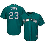 Majestic Men's Replica Seattle Mariners Nelson Cruz #23 Cool Base Alternate Teal Jersey