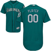 Majestic Men's Full Roster Authentic Seattle Mariners Flex Base Alternate Teal On-Field Jersey