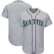 Majestic Men's Authentic Seattle Mariners Road Grey Flex Base On-Field Jersey