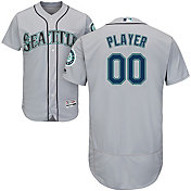 Majestic Men's Full Roster Authentic Seattle Mariners Flex Base Road Grey On-Field Jersey