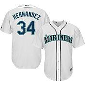 Majestic Men's Replica Seattle Mariners Felix Hernandez #34 Cool Base Home White Jersey