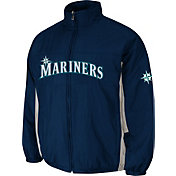 Majestic Men's Seattle Mariners Double Climate On-Field Navy Jacket
