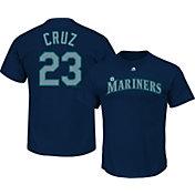 Majestic Men's Seattle Mariners Nelson Cruz #23 Navy T-Shirt
