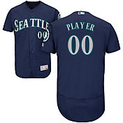 Majestic Men's Full Roster Authentic Seattle Mariners Flex Base Alternate Navy On-Field Jersey