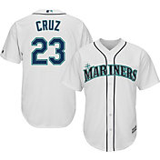 Majestic Men's Replica Seattle Mariners Nelson Cruz #23 Cool Base Home White Jersey