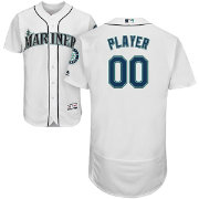 Majestic Men's Full Roster Authentic Seattle Mariners Flex Base Home White On-Field Jersey